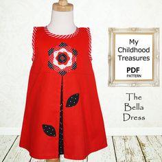 Girls dress sewing pattern PDF Kids by MyChildhoodTreasures, $7.50