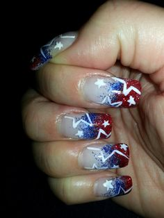 2013 Fourth of July Nails ♥