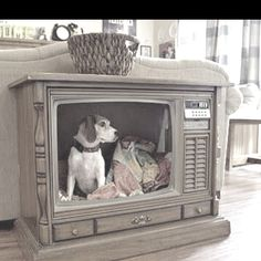 Recycled console tv