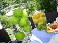 kristenmore limes in the vases to look full - but like the idea