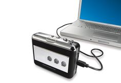 Sharper Image: Cassette Tape Converter  It's great to have a cassette tape player; even better to have this cassette tape player that connects to your computer with a USB cable. This tape converter transfers your cassette tapes to an MP3 format, so you can listen on computer or CD. Finally, your full music library can be digitized.