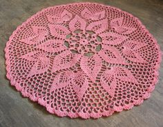 Large Christmas gift, Crochet doily, lace doilies, crocheted place mat, center piece, doily tablecloth, napkin, handmade doilies, pink