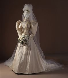 1891 Woman's Two-piece Dress (Wedding) | LACMA Collections