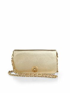 Adalyn Metallic Pebbled Leather Clutch - Zoom - Saks Fifth Avenue Mobile