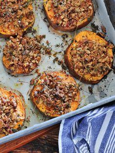 Baked Sweet Potatoes w/ Pecans