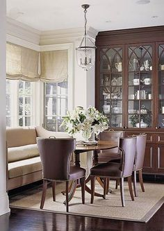Comfortable seating in the dining room