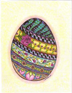 Easter egg coloring page by carolynboettner, via Flickr