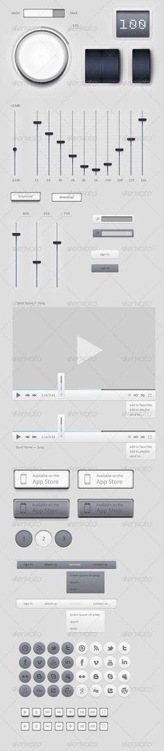 Light GUI Graphical User Interface Set