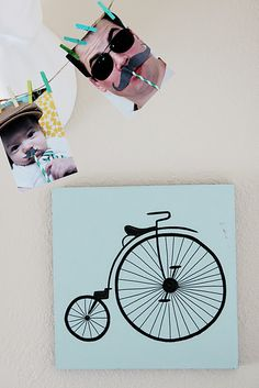 love the bicycle art!