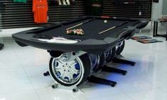 The Autosport Pool Table Rocks a Unique Wheel Design trendhunter.com