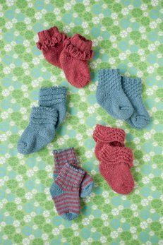 Knit tiny socks.  Quince & Co.