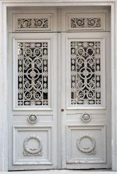 Detail of Door, Saint Germain, Paris France