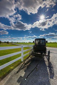 Amish Buggy - Lancaster, Pennsylvania - USA