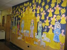 Christmas Nativity scene Bulletin Board