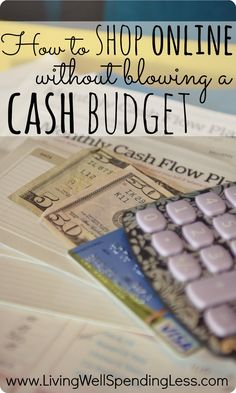 Cash vs. Credit--How to Shop Online Without Blowing a Cash Budget #budget #daveramsey #money