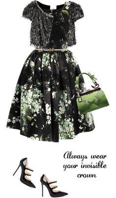 """Dress by DOLCE & GABBANA"" by fashionmonkey1 ❤ liked on Polyvore"