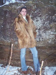 Red Fox Fur Coat.