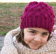 Kids Bobble Beanie by Tanya Naser | Crochet Pattern - via @Craftsy