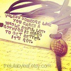 The Lorax quote Dr. Seuss. Hand stamped bracelet by TheLullabyLeaf, $20.00
