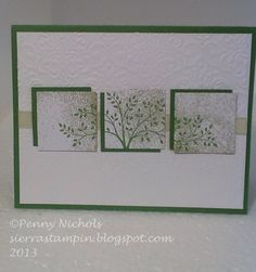 Sympathy #card using Stampin' Up! Thoughts and Prayers stamp set