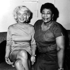 Be the change you want; be the friend you need. The greatest contribution to the relationship between #EllaFitzgerald and #MarilynMonroe…