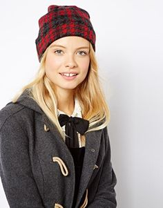 Image 1 of ASOS Check Beanie