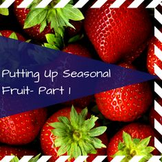 A guide to freezing fruit!  Lots of different methods depending on how much time you want to spend!