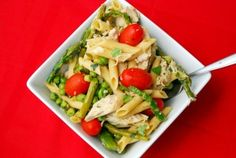 20 minute meal: chicken penne with spring veggies