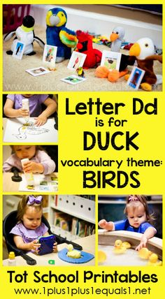 Tot School Printables Letter D is for Duck ~ a free program for toddlers from @{1plus1plus1} Carisa #totschool