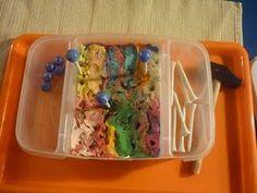 golf tee, clays, tray idea, pound golf, balanc marbl, hammer golf, montessori practic, marbles, budget tray