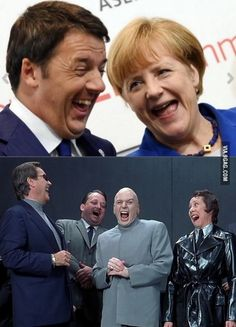 Seen a pic of Angela Merkel and Matteo Renzi laughing that reminded me of something