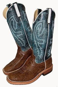 Anderson Bean Vintage Elephant boots w/turquoise tops