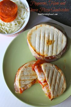 Pepperoni, Ham and Cheese Pizza Sandwiches + a giveaway!! - theBitterSideofSweet