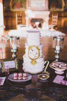 elegant wedding cake, photo by Jesus Caballero http://ruffledblog.com/second-anniversary-photoshoot-with-cotton #weddingcake #cakes