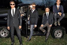 The men of Nashville - Eric Close, Chip Esten, Jonathan Jackson, and Sam Palladio