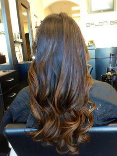 Balayage highlights on natural hair!