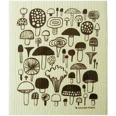 kitchens, kaunist, tea towels, teas, kitchen towels, matti pikkujämsä, mushroom tea, sienet, mushrooms