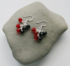 Georgia Bulldogs Cluster Dangle Earrings UGA