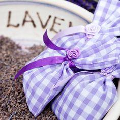 Three small lavender bags