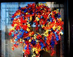 birthday party wreath.