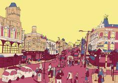 Clapham Junction #illustration #streetview