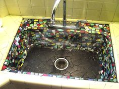 Fiestaware - I don't think I would use my sink again and not sure I would want to clean it either. lol