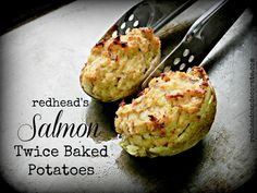 Salmon Twice Baked Potatoes…perfect appetizer for Christmas or New Year's. Plus several other yummy appetizer recipes.