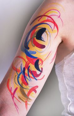 Amanda Wachob Abstract Tattoo tattoo idea, amanda wachob, tattoo tattoo, watercolor tattoo, tattoos, art, wachob tattoo, awesom tattoo, tattoo ink