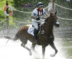 Zara Phillips during Monday's eventing cross country at Greenwich Park in London.