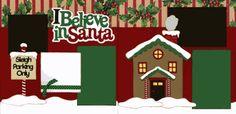 I Believe In Santa 2-page layout