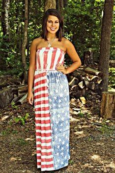 Made In America Maxi Dress! $49.99! #SouthernFriedChics