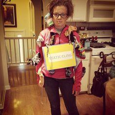 Last-minute #Halloween costume idea: Static cling