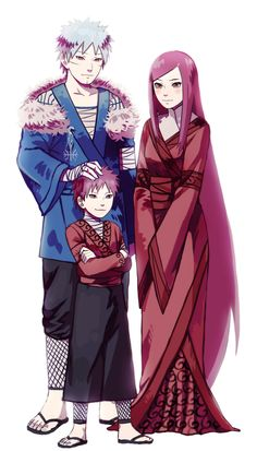 Tobirama  Senju & Himeko Uzumaki and their son by DaiKai