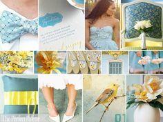 sky blue, light yellow, white